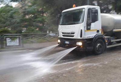 Smog: lavando le strade il PM10 scende del 60%