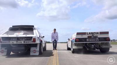 Lancia Delta S4 VS Lancia 037: testa a testa tra titaniche Martini Racing