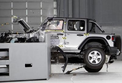 Jeep Wrangler: si ribalta in caso di impatto laterale