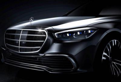 Nuova Mercedes Classe S 2021: teaser frontale e ultime informazioni