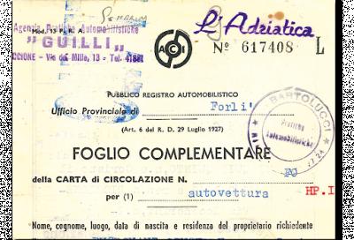 Documento Unico di Circolazione: per i veicoli storici tutto invariato