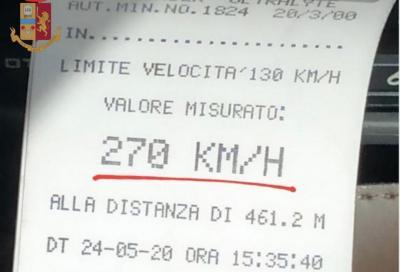 Con la Porsche a 270 km/h sulla A4? La sanzione è da capogiro!