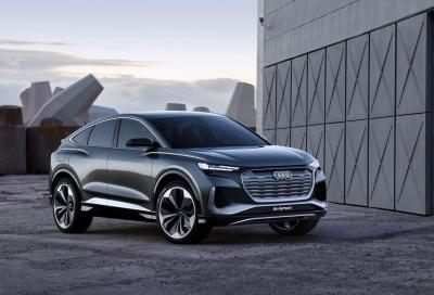 Audi Q4 Sportback e-tron concept: filante ma spaziosa