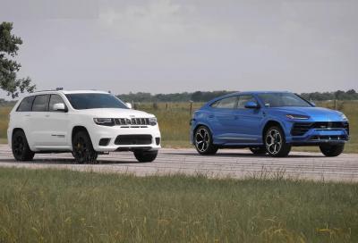 Lamborghini Urus VS Jeep Grand Cherokee Trackhawk: bisonti veloci