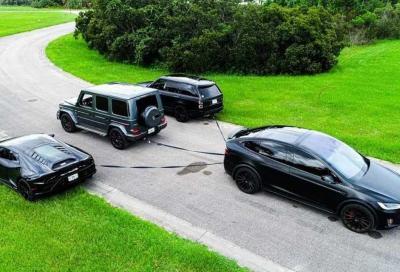 Tesla Model X e le sfide di traino più improbabili