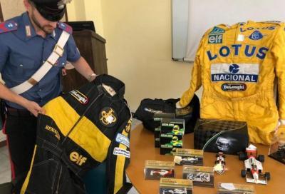 Ayrton Senna e il suo tesoro in un bazar di Chivasso