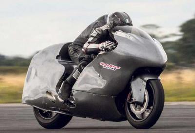 Guy Martin e la Suzuki Hayabusa da 483 km/h
