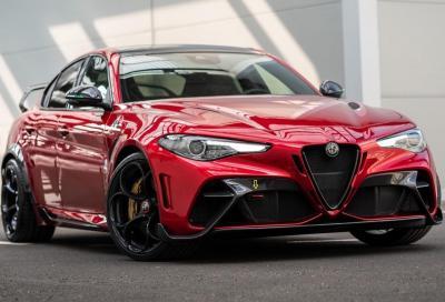 Alfa Romeo Giulia GTAm: il suono degli Akrapovic in accelerazione