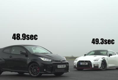 Toyota GR Yaris: in pista è più veloce di una GT-R Nismo