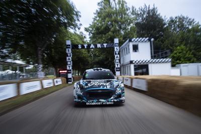 La nuova FORD PUMA Rally1 WRC Hybrid Prototipo svelata a Goodwood
